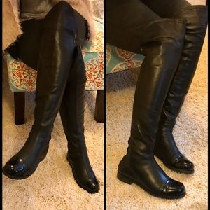 💢SALE💢 DAVOS GOMMA OVER THE KNEE LEATHER BOOTS